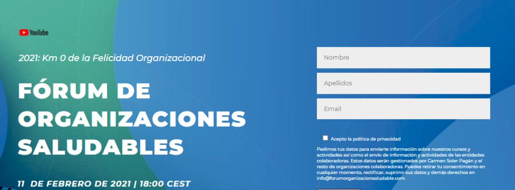 Forum de Organizaciones Saludables 2021
